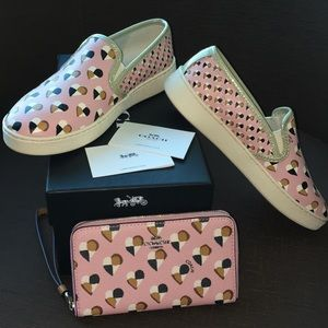 Coach sneakers and matching Wristlet